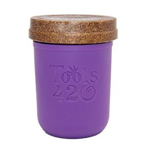 Re-Stash 8 oz Cannabis Storage Jar Purple and Brown
