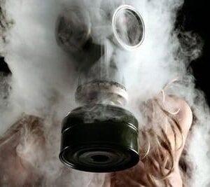 Vaping Temperature Girl Wearing Weed Mask